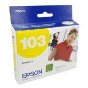 Cartucho EPSON T103420 T103 103 Amarelo para T40W TX600FW TX550W