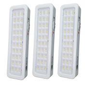 Kit 3 luminárias Luz de emergência com 30 LED Bivolt