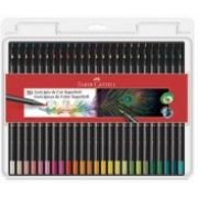 Kit 50 cores lápis redondo Supersoft Faber Castell