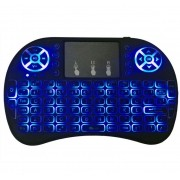Mini teclado air mouse touch sem fio TVBox com luz Backlit