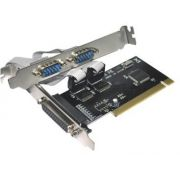 Placa Pci com 2 Portas Serial RS232 DB9 e 1 Paralela