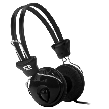 Fone de Ouvido com Microfone P2 Preto Tricerix III C3Tech
