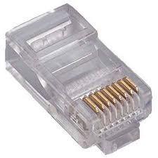Pacote 100 Conector Rj45 para Rede Lan Plug Rj 45