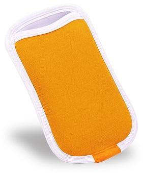 Capa Porta Celular Laranja com Branco Reliza