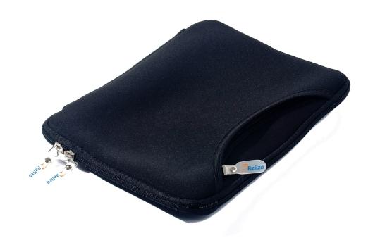 Case Capa 10 polegadas Neoprene Preto para Ipad Tablet com Bolso Frontal