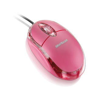 Mini Mouse Óptico Rosa Classic Multilaser USB 800dpi para PC e notebook MO002