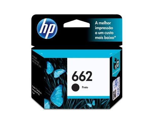 Cartucho HP662 HP 662 CZ103AB Preto para 2515 2516 3515 3516 2ml