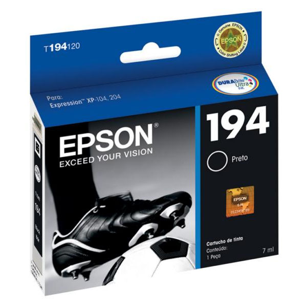 Cartucho Epson T194120 T194 194 Preto 4ml Expression XP-104 XP204