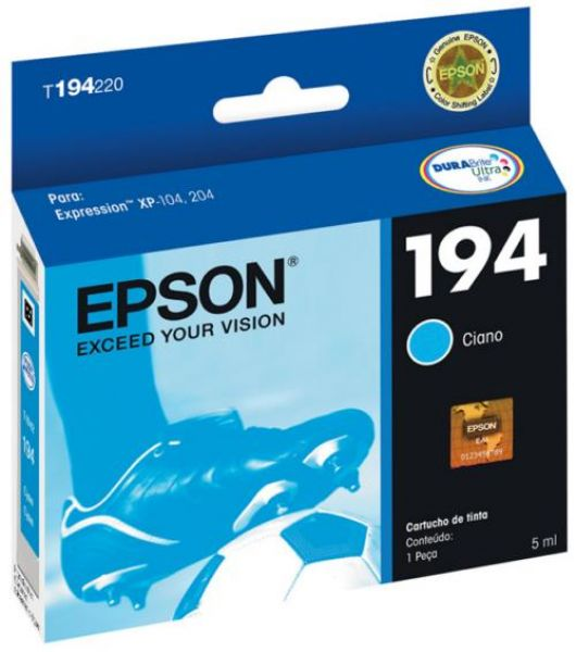 Cartucho Epson T194220 T194 194 Ciano 3ml Expression XP-104 XP204