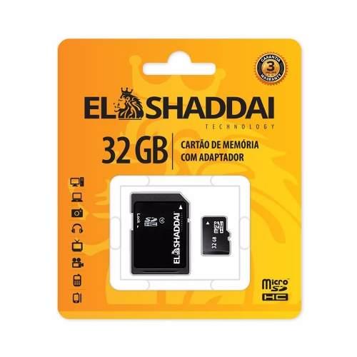 Cartão Memória Micro Sd 32gb Classe 4 Para Samsung Motorola El Shaddai