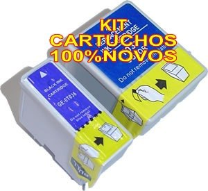 Kit 2 Cartuchos To38 To39 P/ Epson C41 C43 C45 Cx1500