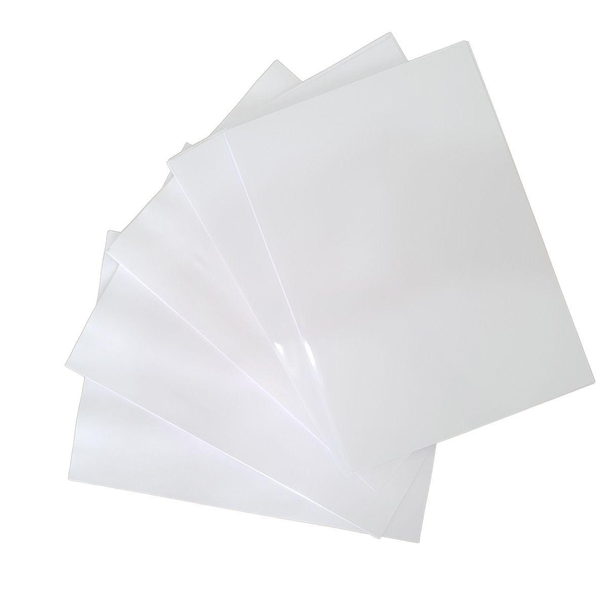 80 Adesivos Vinil Transparentes Impressoras Jato De Tinta A4