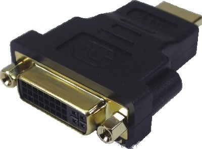 Adaptador HDMI Macho X DVI-I Femea Contatos Dourados
