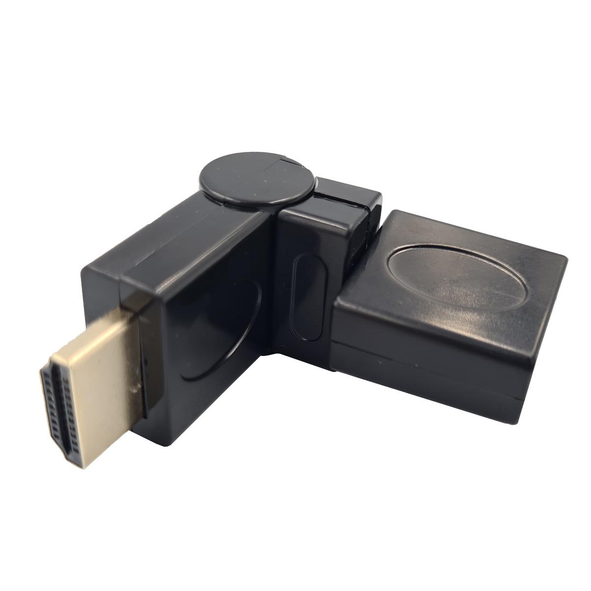 Adaptador HDMI Macho X HDMI Fêmea 1.4 90 Graus em L Articulado