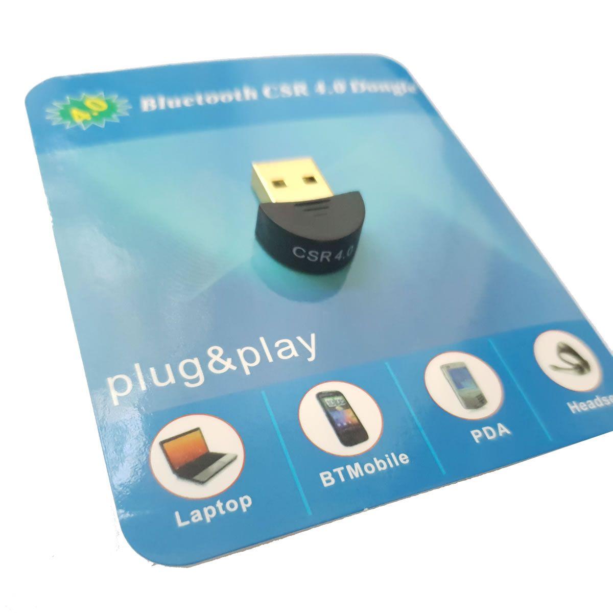 Adaptador Sem fio Transmissor Bluetooth 4.0 USB