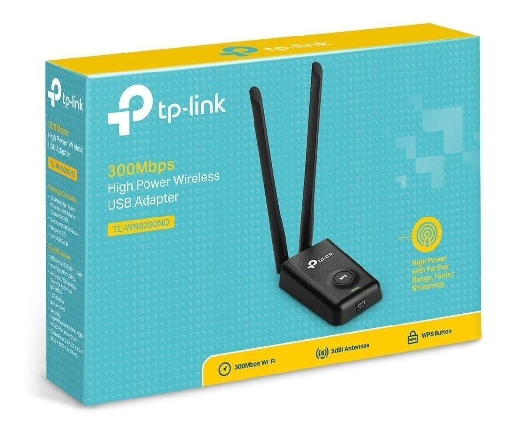 Adaptador TP-Link USB Wireless com 2 antenas 5dbi TL-WN8200ND