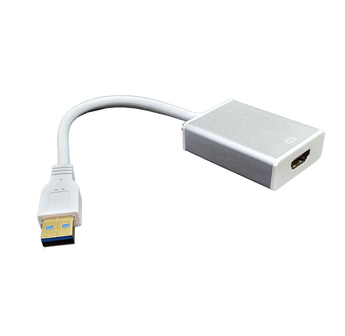 Adaptador USB 3.0 Macho para HDMI Fêmea