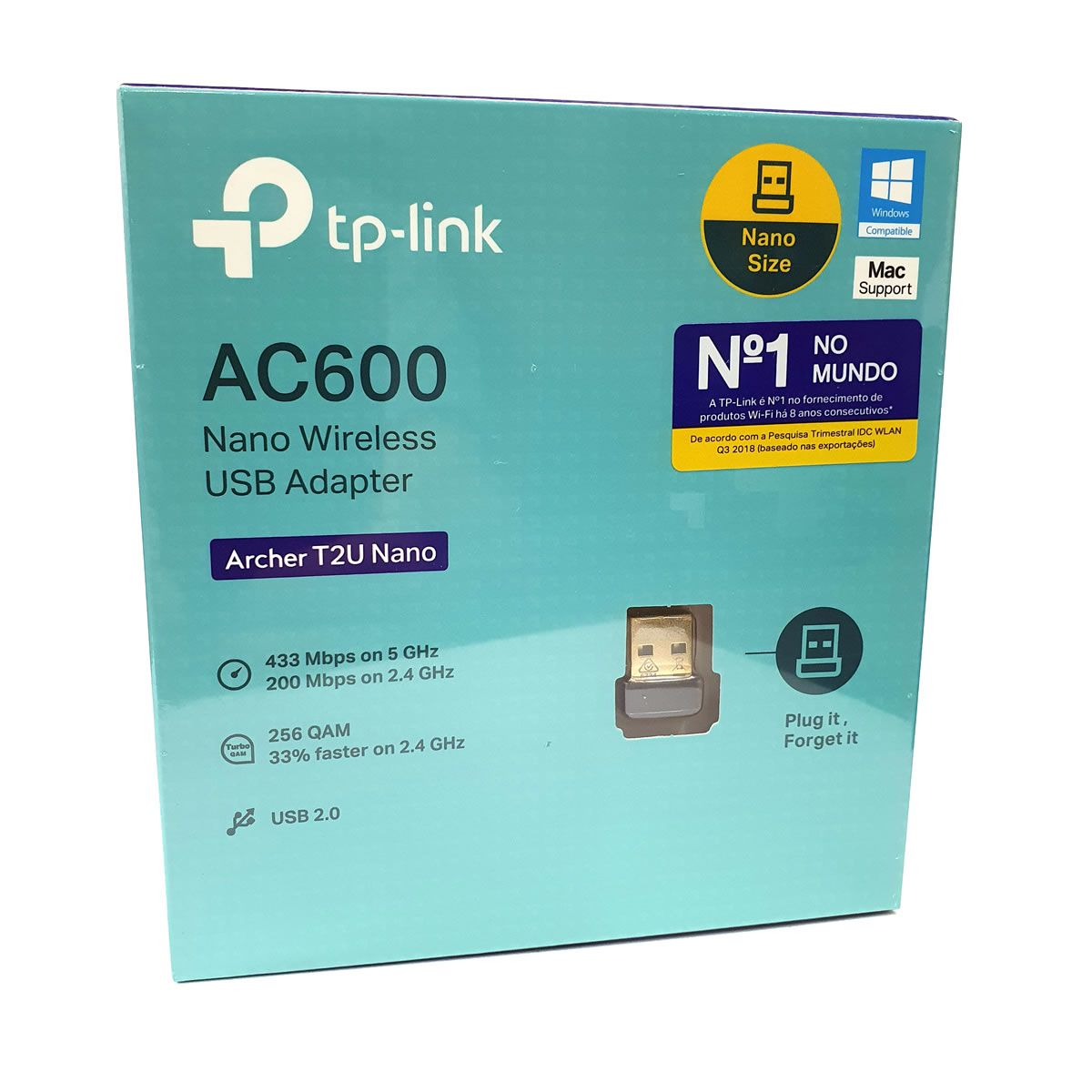 Adaptador USB Nano Wireless Dual Band AC600 TP-Link