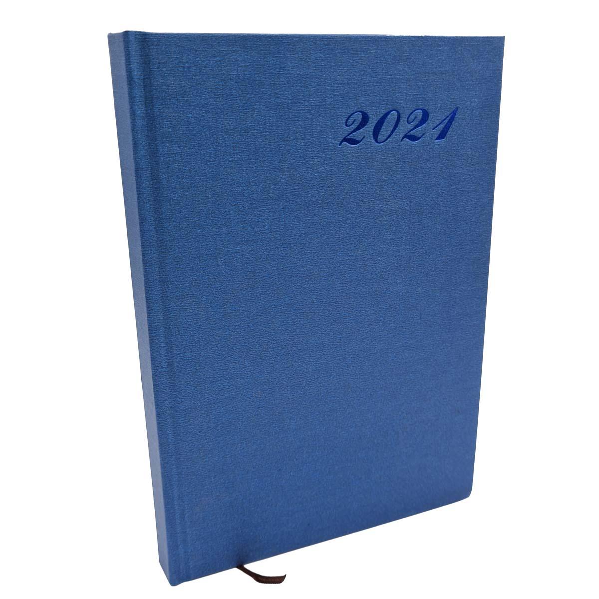 Agenda 2021 Diária A5 176 Folhas Capa Dura Azul