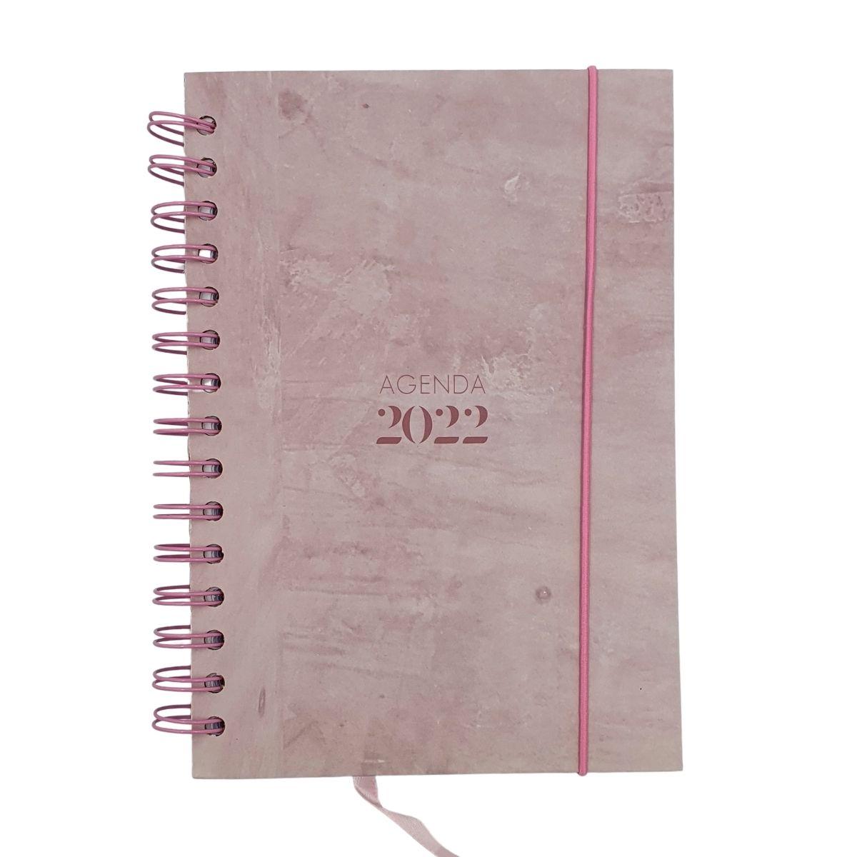 Agenda 2022 A5 Texturizada Rosa