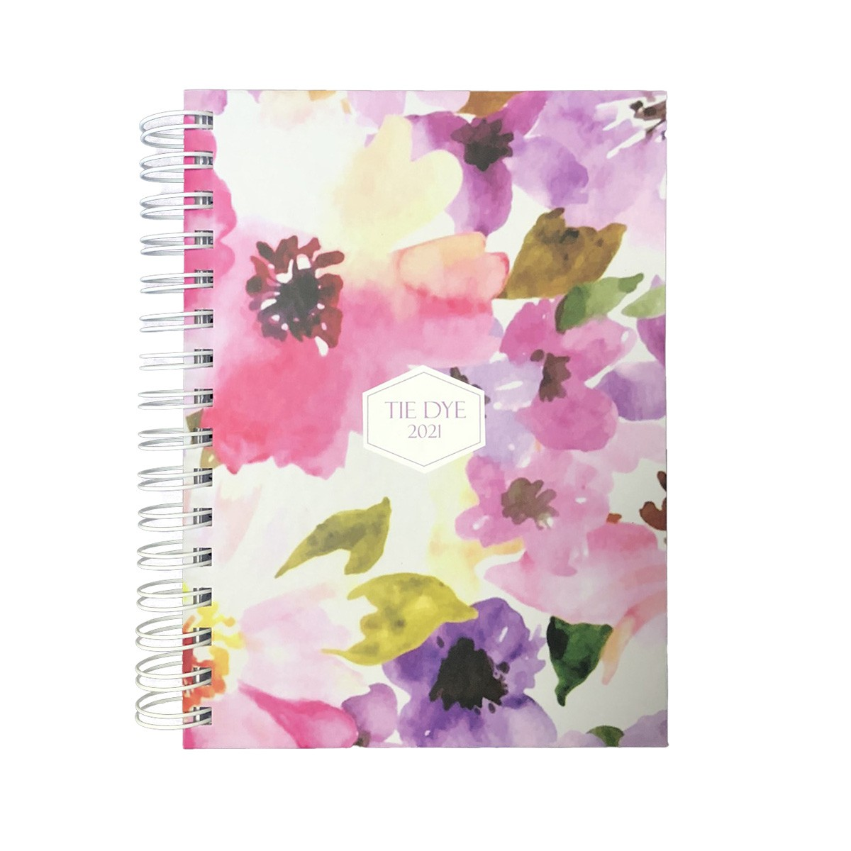 Agenda Pautada A5 168fls 2021 Tie Dye Flower Pink doSul