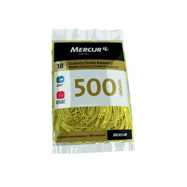 Atilho elastico amarelo 500un Mercur