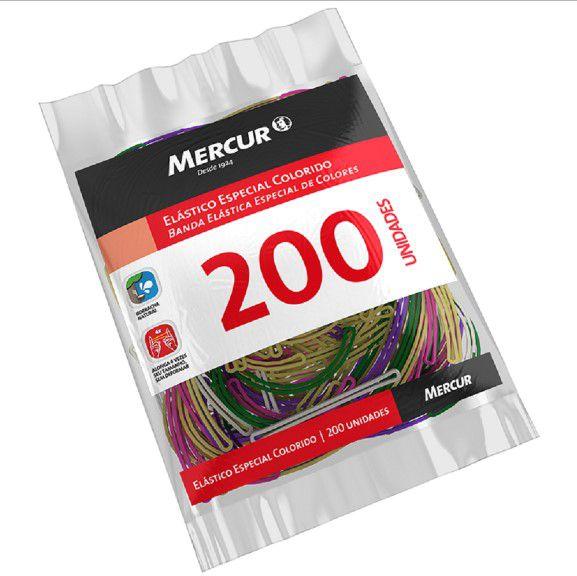 Atilho elastico Colorido 200un Mercur