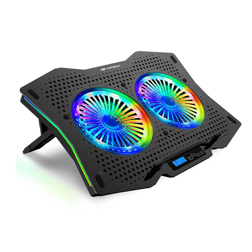 Base e Cooler Gamer com LED Visor LCD regulagem para Notebook NBC-400BK