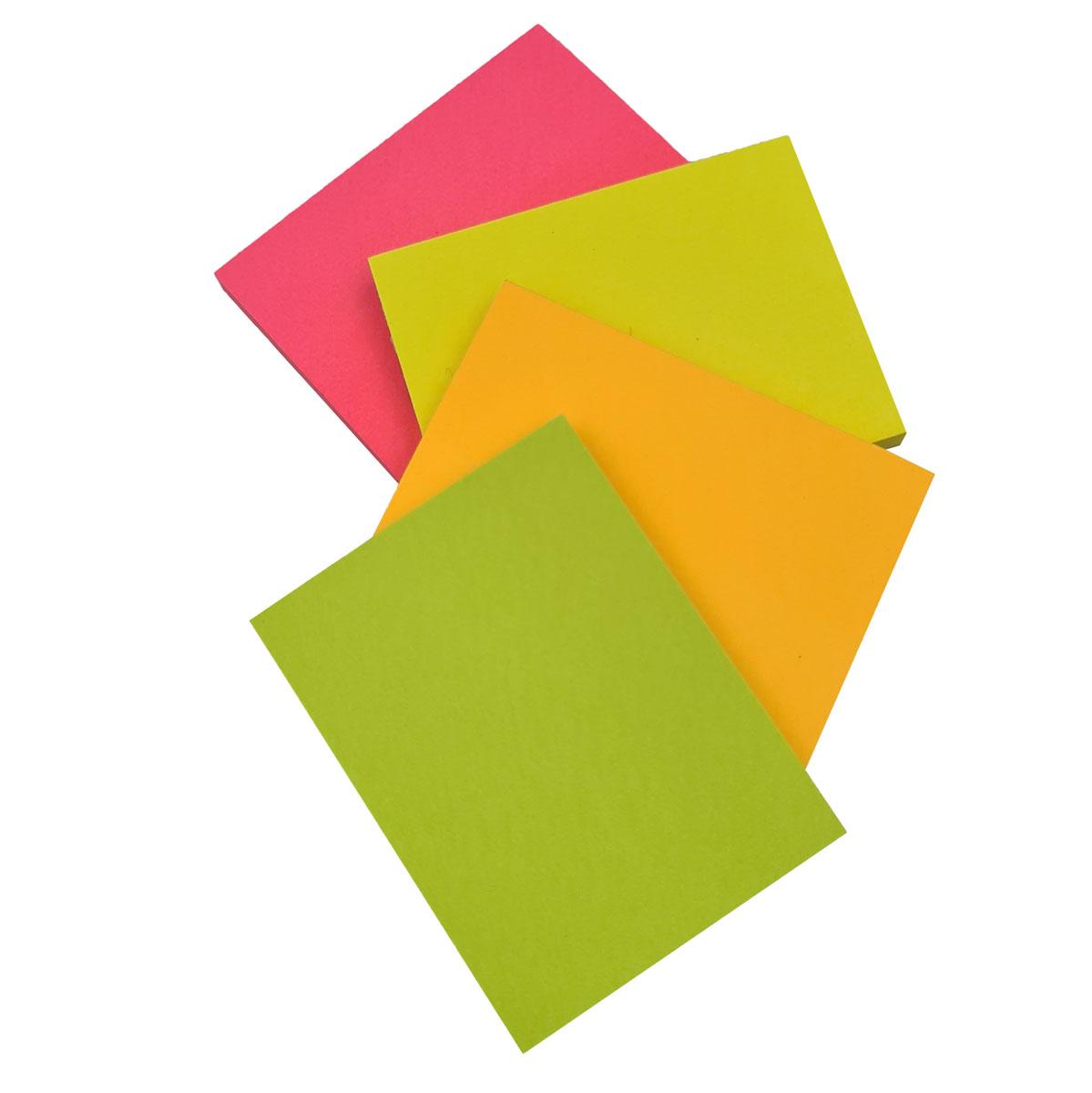 Blocos de Notas Adesivas Post-it Tropical  4 Blocos de 38 x 50 mm  50 folhas cada Multicor