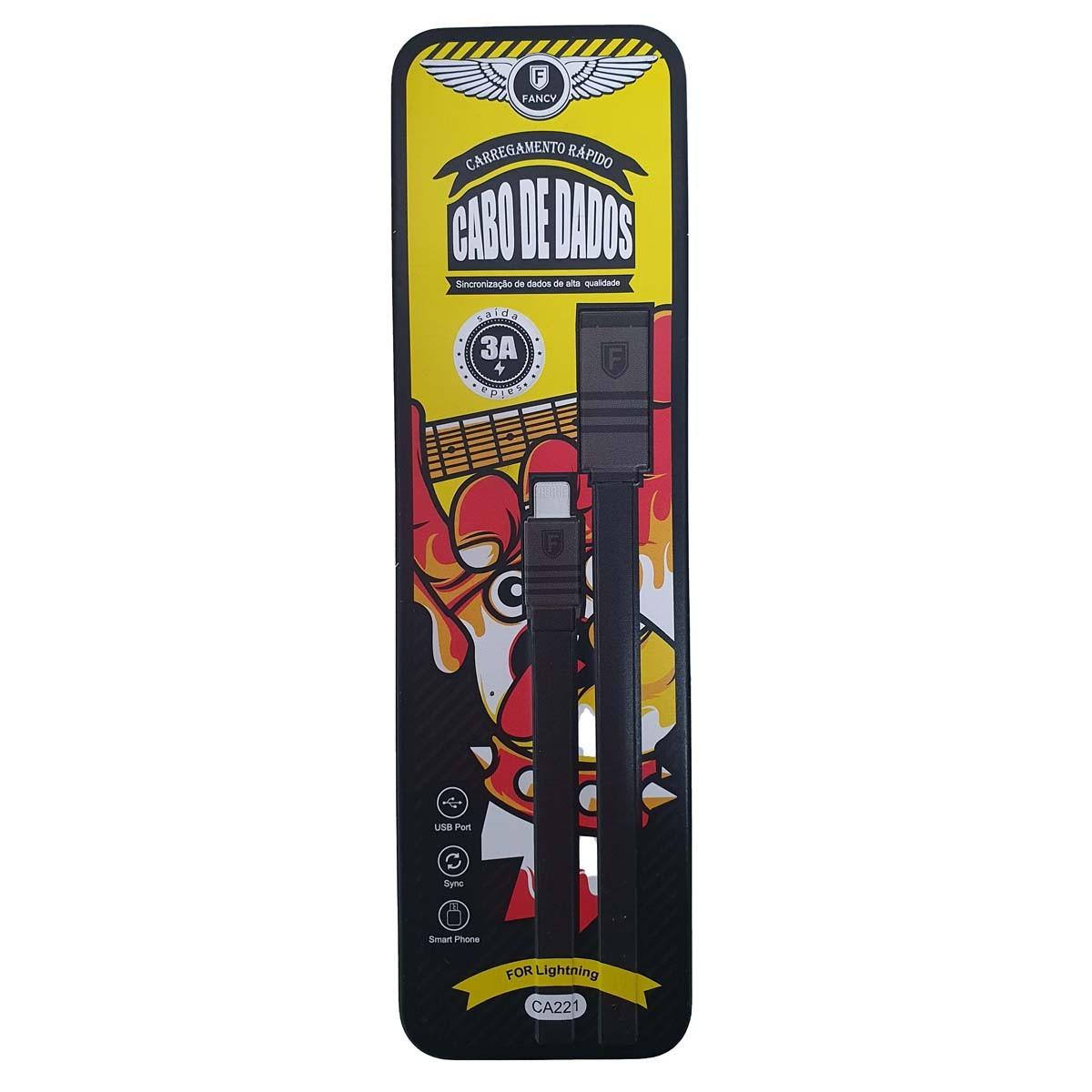 Cabo de Dados Lightning para Iphone USB Nylon 1m CA221 Fancy