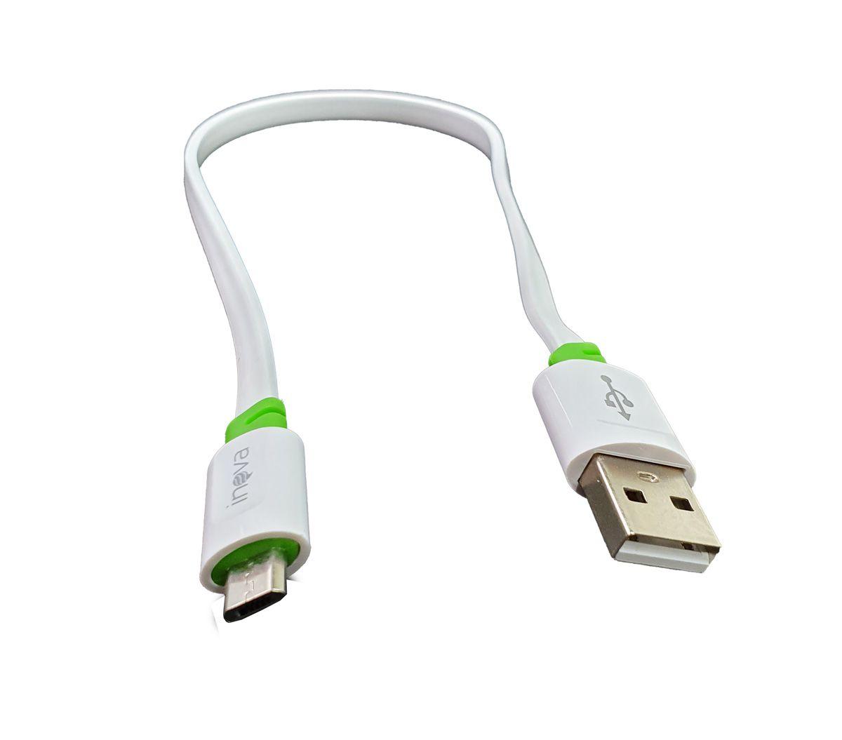 Cabo para celular Micro USB V8 para USB Curto Portátil 30 cm