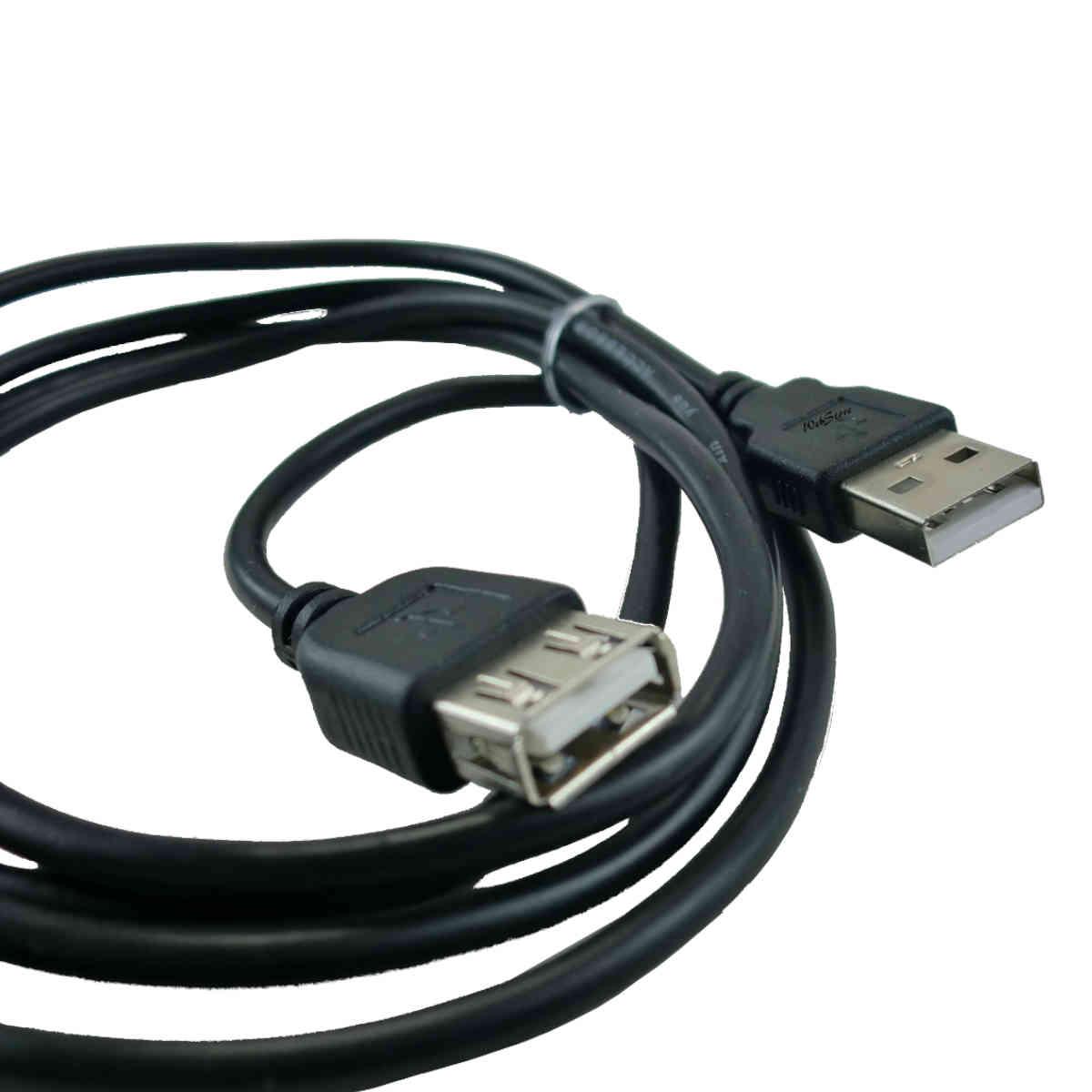 Cabo Extensor USB 3 metros A macho para A femea Plus Cable
