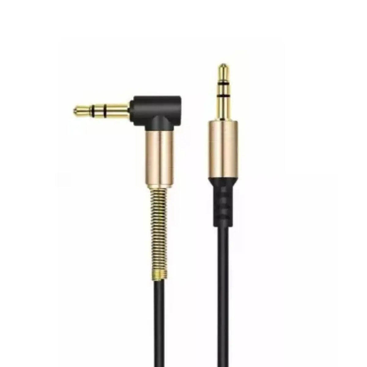 Cabo P2 Auxilar Audio formato L 90 graus P2 x P2 3.5mm Stereo