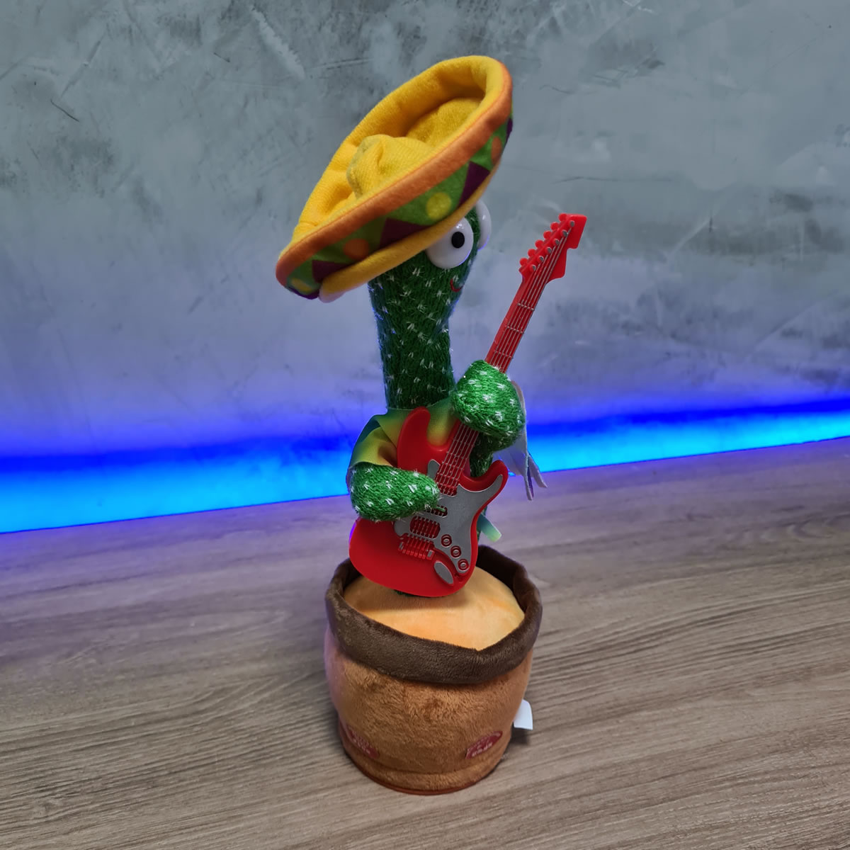 Cactos Animado Dançante e falante Cactus Dancing Guitarra Repete o que fala