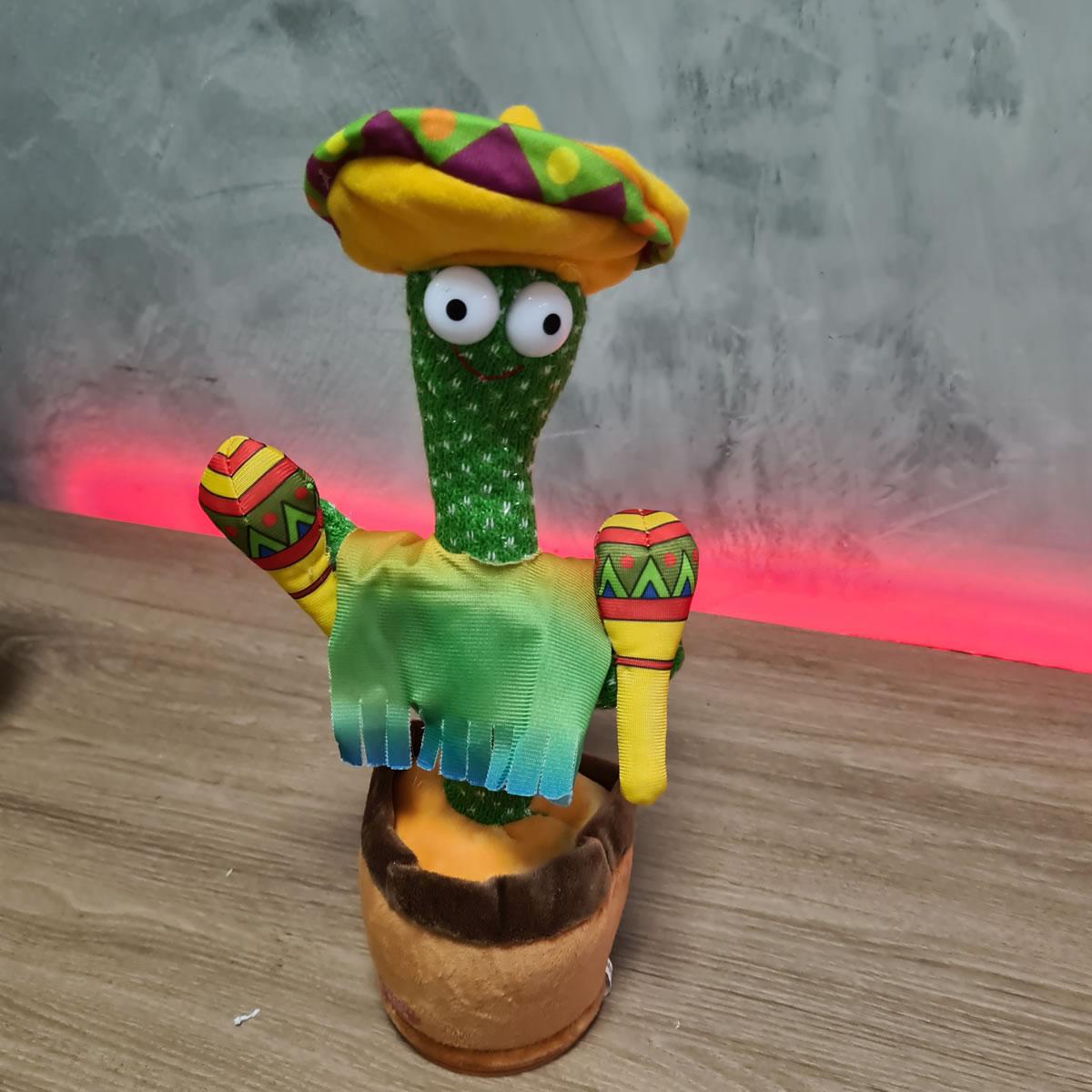 Cactos Animado Dançante e falante Cactus Dancing Repete o que fala