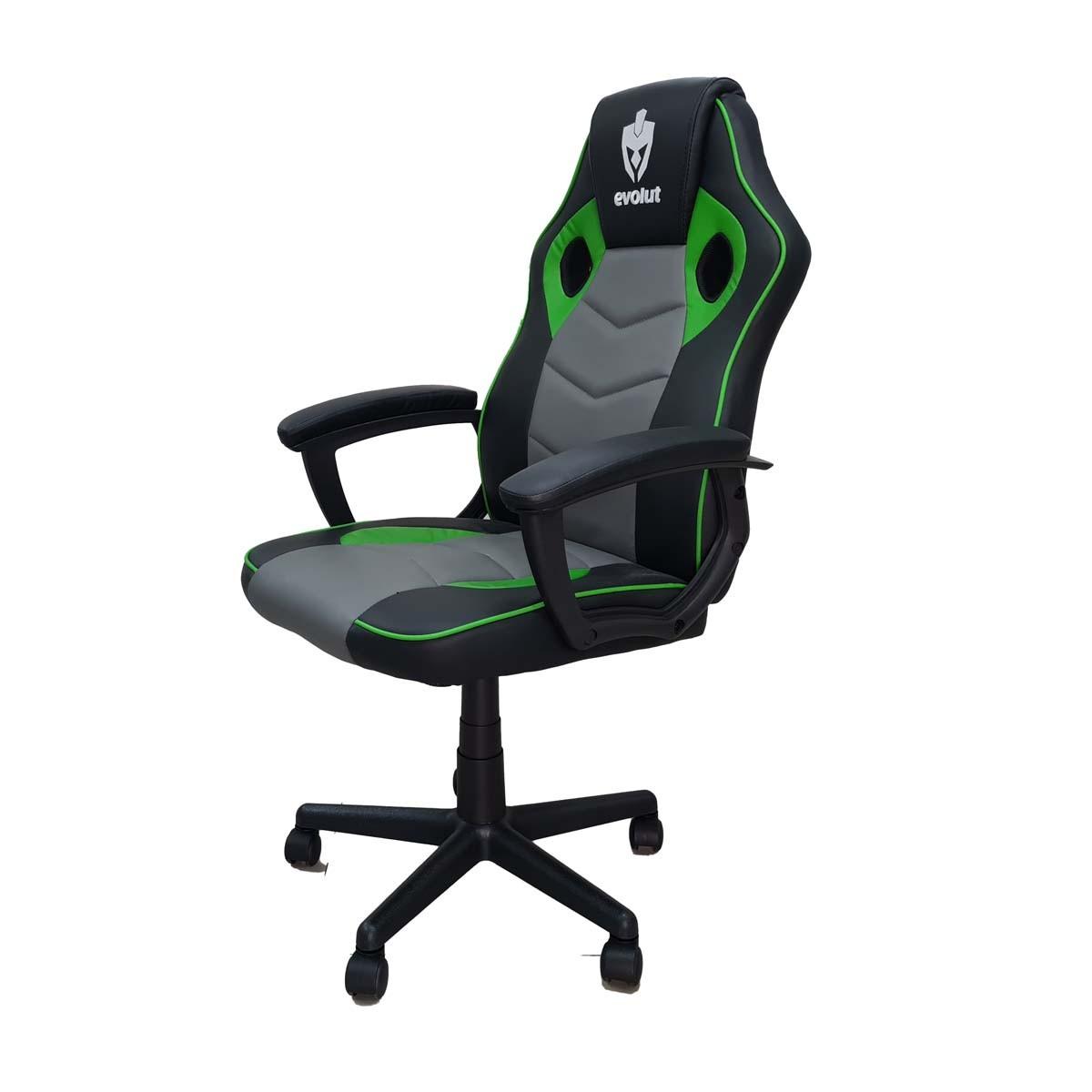 Cadeira Gamer Hunter Preta e Verde EG903 Evolut