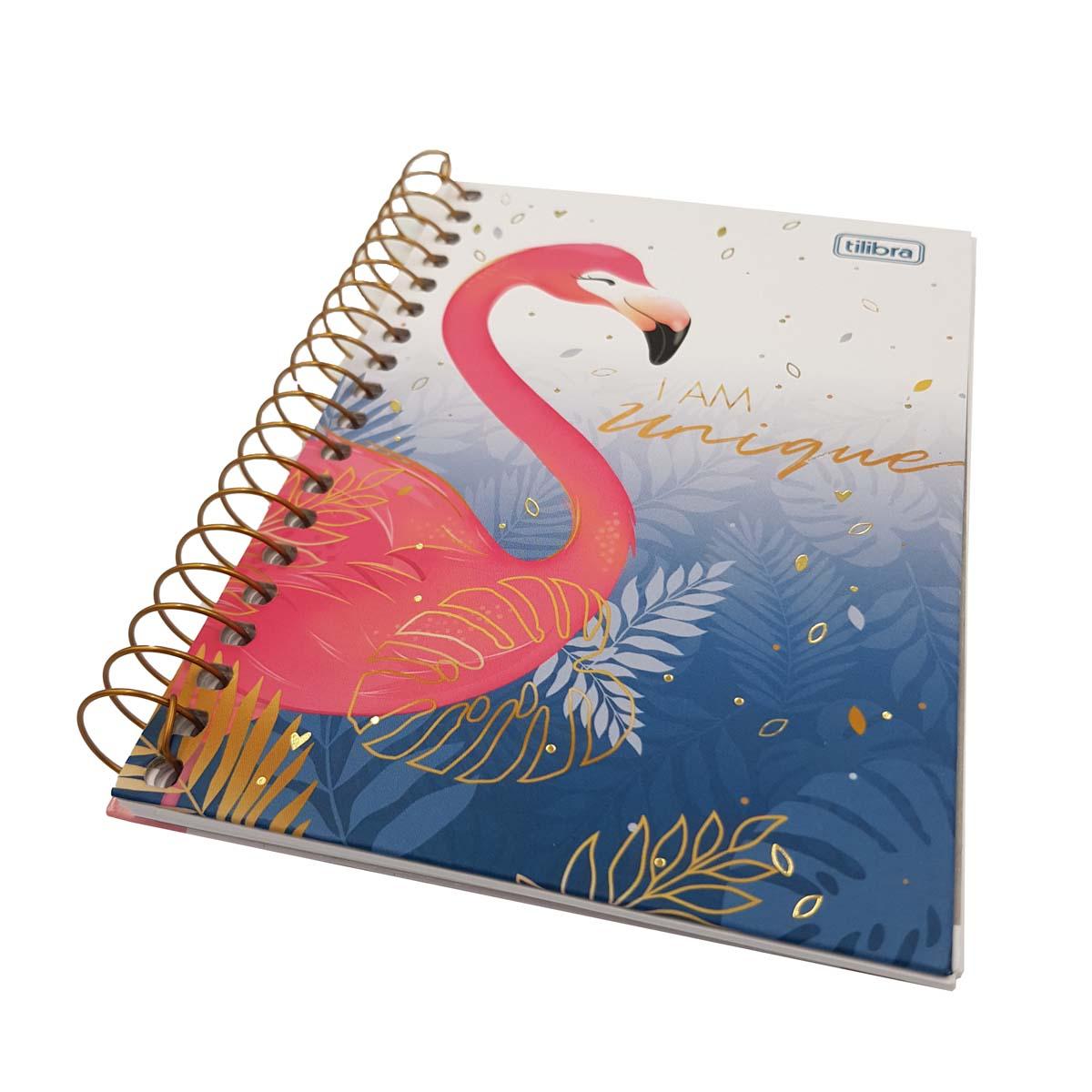 eanxCaderneta Capa Dura Espiral 80 folhas 110 x 154mm 56g/m2 Flamingo Rosa