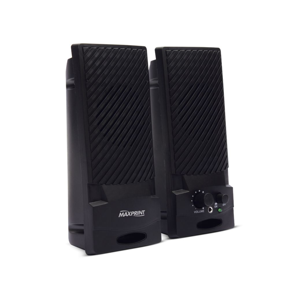 Caixa De Som 1W RMS para PC Notebook P2 USB Maxprint 601145-9