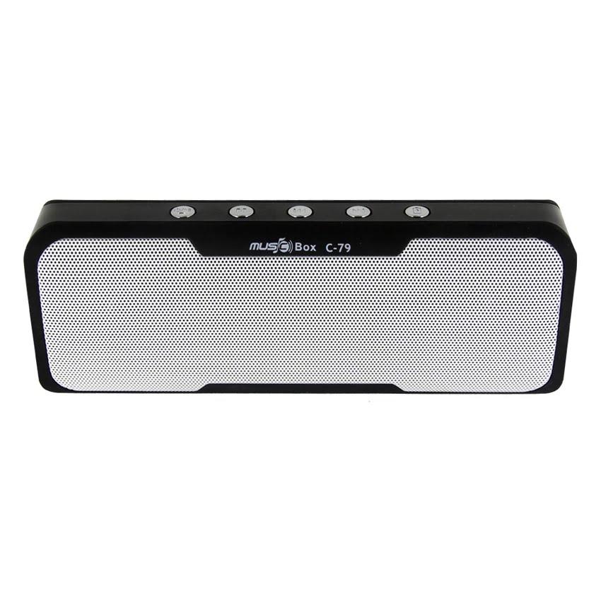 Caixa de Som Bluetooth Portátil LED 3W RMS com Power Bank 1000mAh C-79 Preta