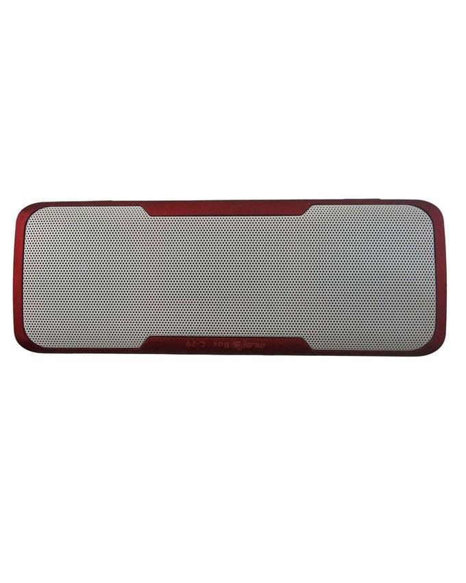 Caixa de Som Bluetooth LED 3W RMS com Power Bank 1000mAh C-79 Vermelha