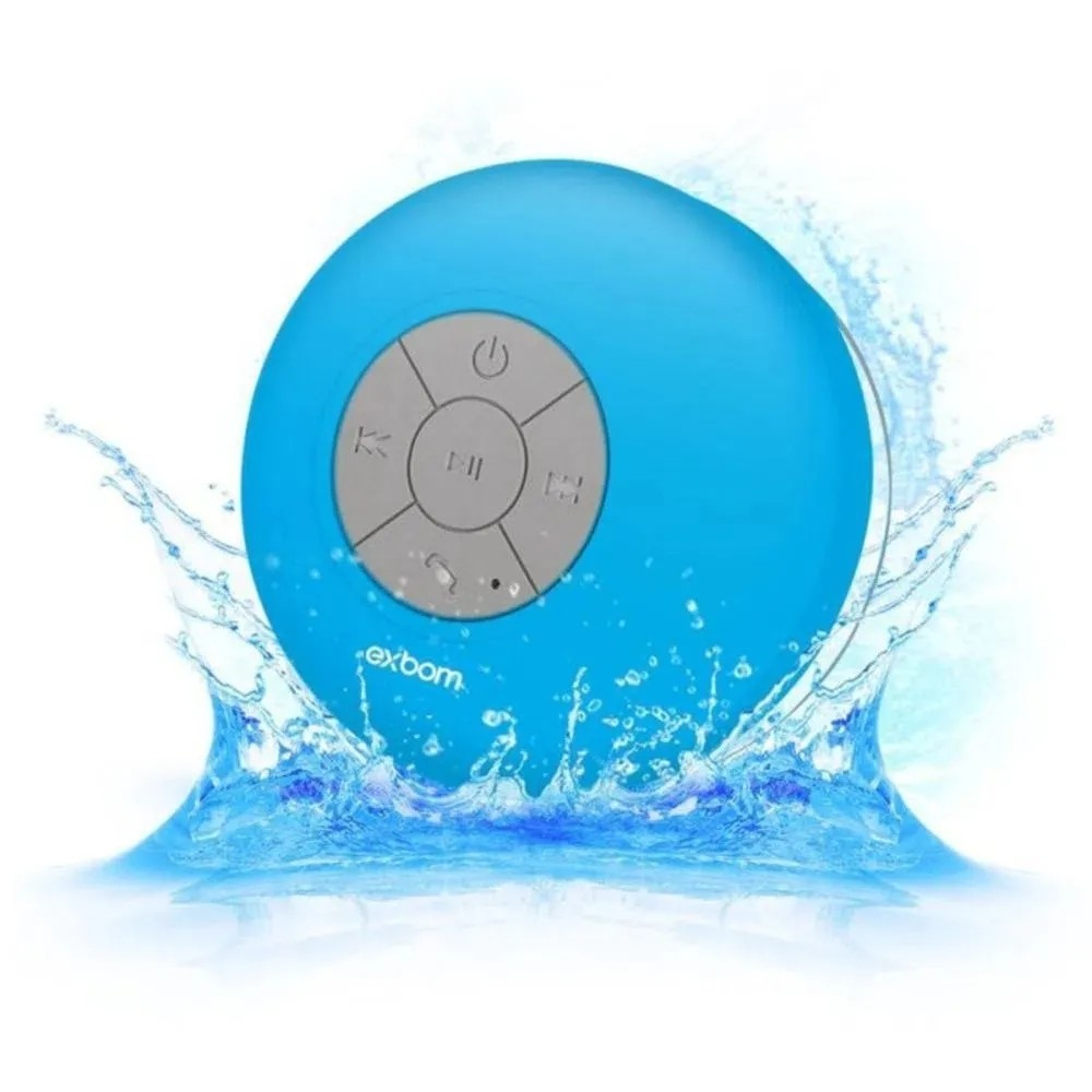 Caixa de Som Banheiro Prova D Água Bluetooth Android E IOS CS-A6BT Exbom