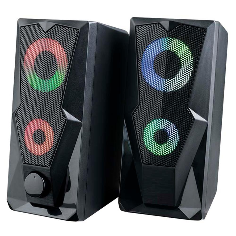 Caixa de Som Gamer Potente com ilimunação LED RGB 15W RMS