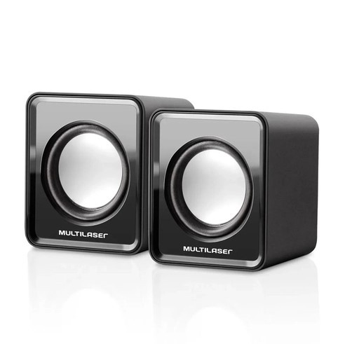 Caixa de Som Multimídia para PC Notebook USB Preta SP144 Multilaser