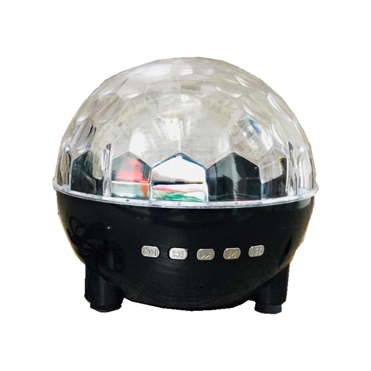 Caixa de som portátil bluetooth globo de luzes de LED