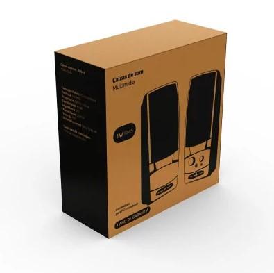 Caixa de Som USB 2.0 P2 1W RMS Preto SP044 Multilaser
