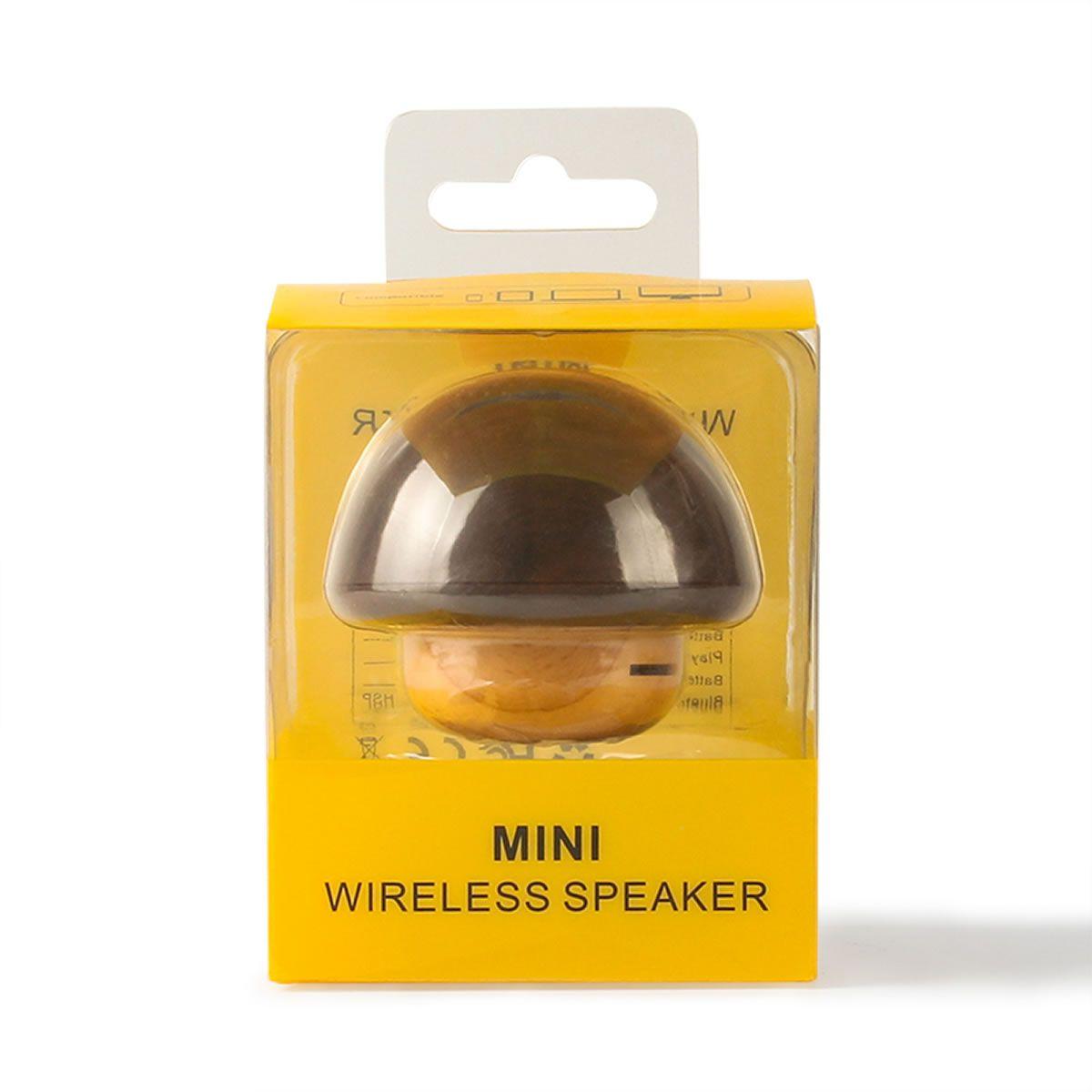 Caixa de som Wireless portátil Bluetooth em Madeira