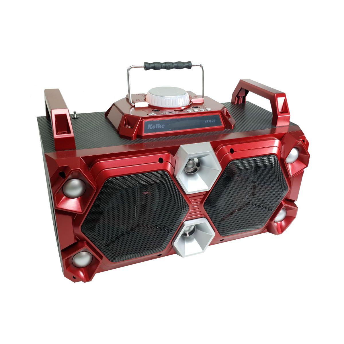 Caixa de Som com bluetooth 50w  vermelha KPM201