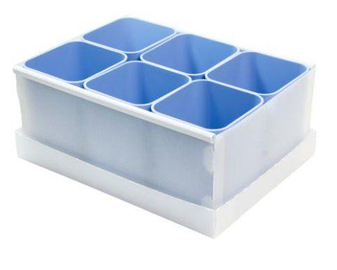 Caixa Organizadora com 6 Porta Objetos Azul