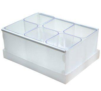 Caixa Organizadora com 6 Porta Objetos Cristal