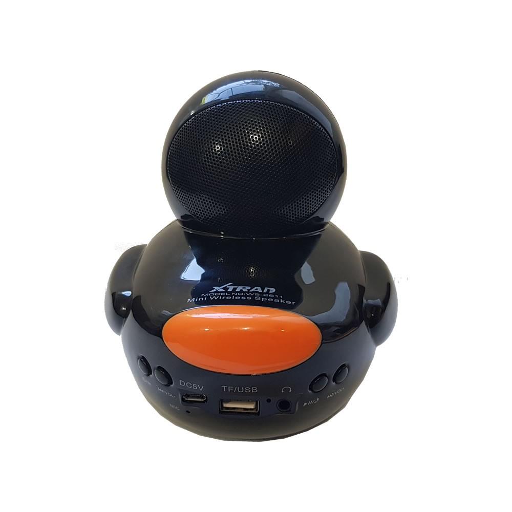Caixa Som Bluetooth Duck Pato Preto WS-2611